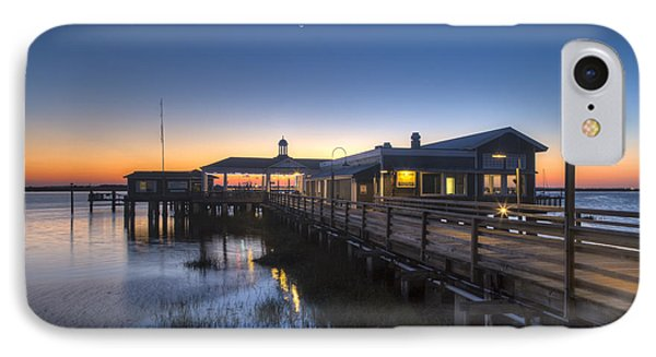 Evening Sky At The Dock Phone Case by Debra and Dave Vanderlaan