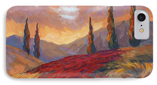 Evening Sunset In Tuscany IPhone Case by Diane McClary