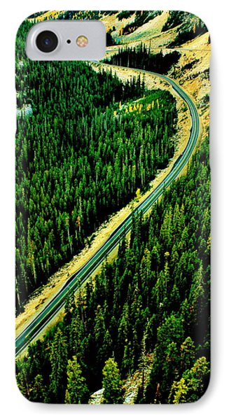 Evergreen Highway Phone Case by Benjamin Yeager