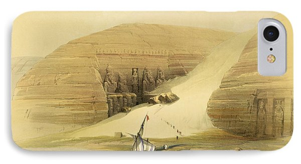 Excavated Temple Of Abu Simbel IPhone Case by David Roberts