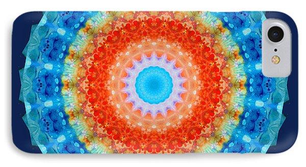 Expanding Energy 1 - Mandala Art By Sharon Cummings IPhone Case by Sharon Cummings