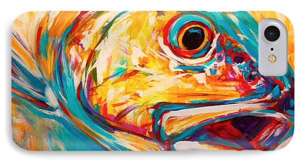Expressionist Redfish IPhone Case by Savlen Art