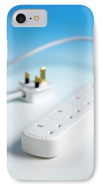 Extension Cable And Multiple Socket IPhone Case by Science Photo Library