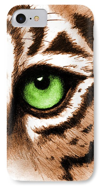 Eye Of The Tiger IPhone Case by Michelle Eshleman