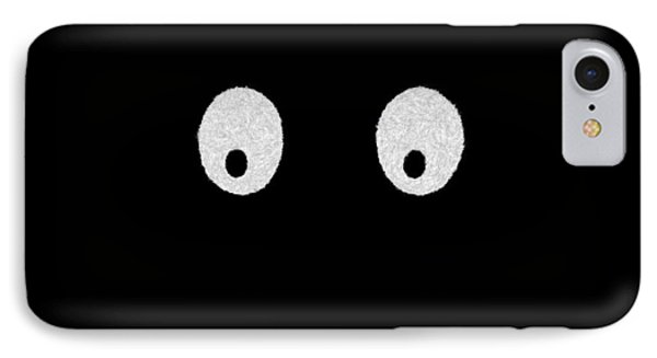 Eyes - My Eyes Are Up Here Phone Case by Mike Savad