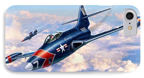 F9f-5p Photo Panthers IPhone Case by Stu Shepherd