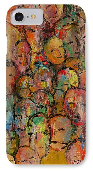 Faces In The Crowd Phone Case by Larry Martin