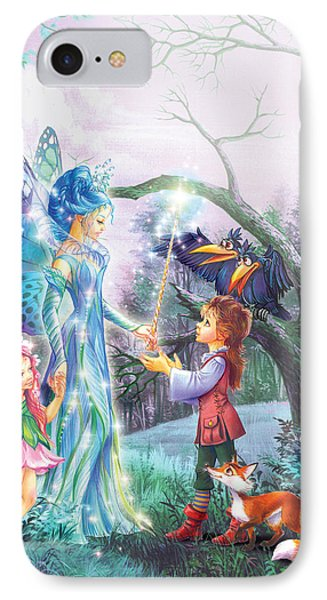 Fairy Wand IPhone Case by Zorina Baldescu