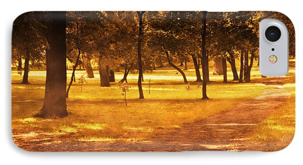Fall Autumn Park Phone Case by Michal Bednarek
