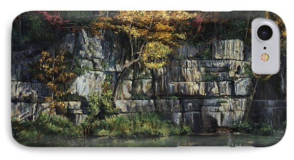 Fall Bluffs - Ozark Nat'l Scenic Rivers IPhone Case by Don  Langeneckert