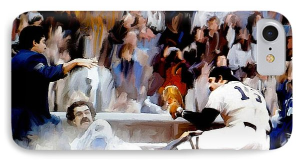 Fall Classic II  Thurman Munson IPhone Case by Iconic Images Art Gallery David Pucciarelli