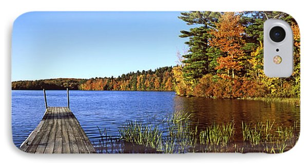 Fall Colors Along A New England Lake IPhone Case by Panoramic Images