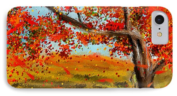 Fall Impressions IPhone Case by Lourry Legarde