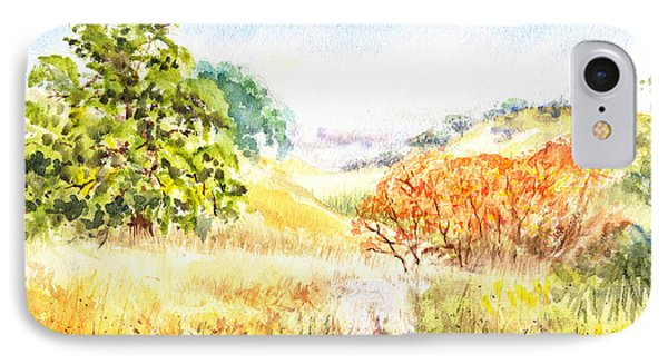 Fall Landscape Briones Park California IPhone Case by Irina Sztukowski