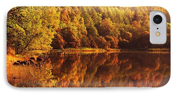 Fall Reflections. Loch Achray. Scotland Phone Case by Jenny Rainbow