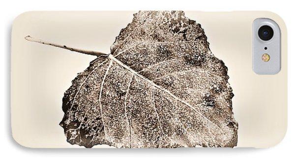 Fallen Leaf In Antique T IPhone Case by Greg Jackson