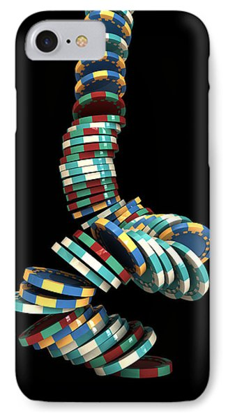 Falling Casino IPhone Case by Allan Swart