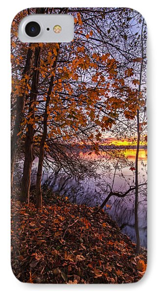 Falls Morning Colors IPhone Case by Mike Reid