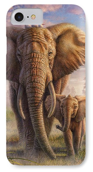 Family Stroll IPhone Case by Phil Jaeger