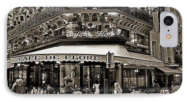Famous Cafe De Flore - Paris IPhone Case by Carlos Alkmin
