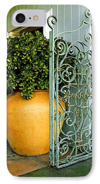 Fancy Gate And Plain Pot Phone Case by Ben and Raisa Gertsberg