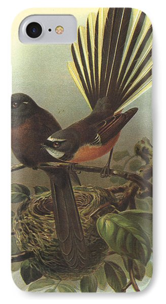 Fantail IPhone Case by J G Keulemans