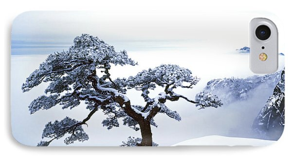 Fare-well Pine Tree IPhone Case by King Wu