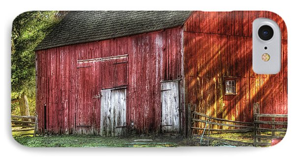 Farm - Barn - The Old Red Barn IPhone Case by Mike Savad