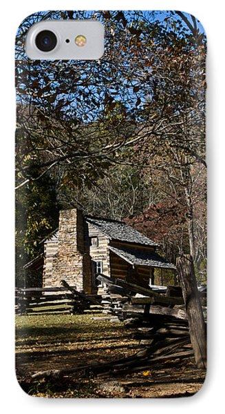 Farm Cabin Cades Cove Tennessee Phone Case by Douglas Barnett