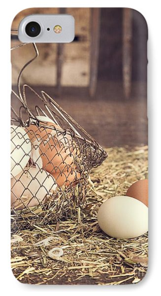 Farm Fresh Eggs IPhone Case by Edward Fielding