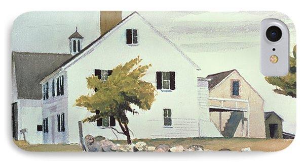 Farm House At Essex Massachusetts IPhone Case by Edward Hopper