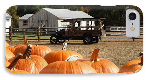 Farm Stand Pumpkins IPhone Case by Barbara McDevitt