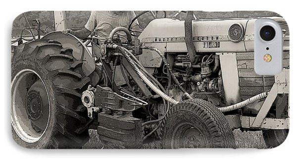 Farmer And His Tractor Phone Case by Kathleen Struckle