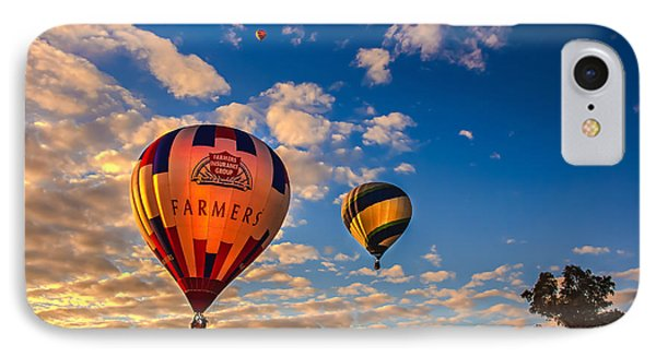 Farmer's Insurance Hot Air Ballon IPhone Case by Robert Bales