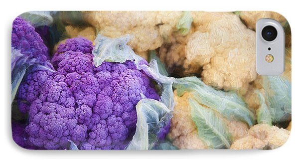 Farmers Market Purple Cauliflower IPhone 7 Case by Carol Leigh