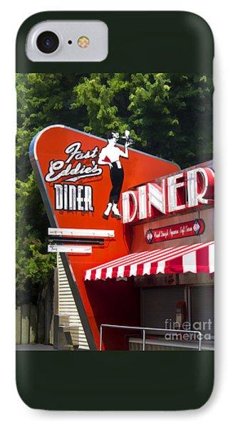 Fast Eddies Diner Art Deco Fifties IPhone Case by Edward Fielding