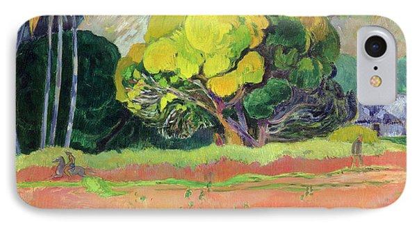 Fatata Te Moua IPhone Case by Paul Gauguin
