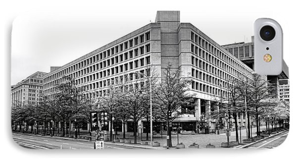 Fbi Building Front View IPhone Case by Olivier Le Queinec