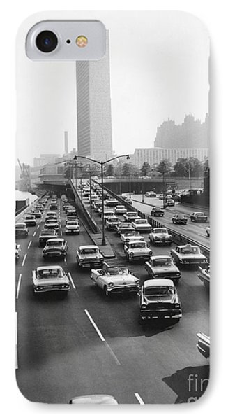 Fdr Drive, Nyc, 1961 IPhone Case by Dick Hanley