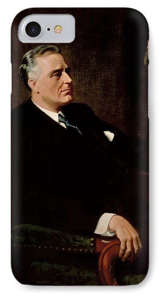 Fdr Official Portrait  Phone Case by War Is Hell Store