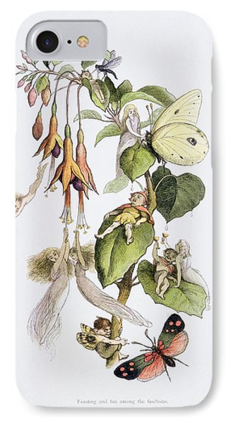 Feasting And Fun Among The Fuschias IPhone Case by Richard Doyle