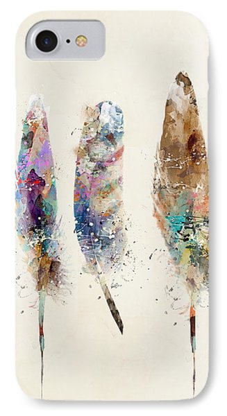 Feathers IPhone Case by Bri B