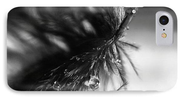 Feathery Drop Phone Case by Lauri Novak