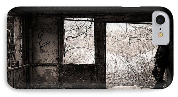 February - Comfortable Seclusion - Self Portrait IPhone Case by Gary Heller
