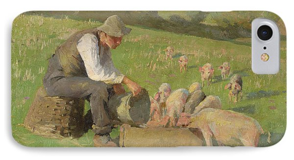 Feeding Time IPhone Case by Harold Harvey