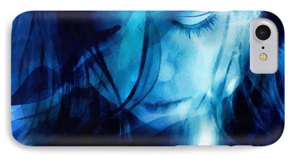 Feeling A Little Blue Phone Case by Gun Legler