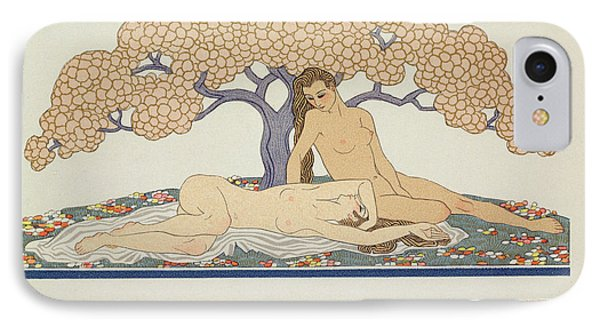 Female Nudes IPhone Case by Georges Barbier