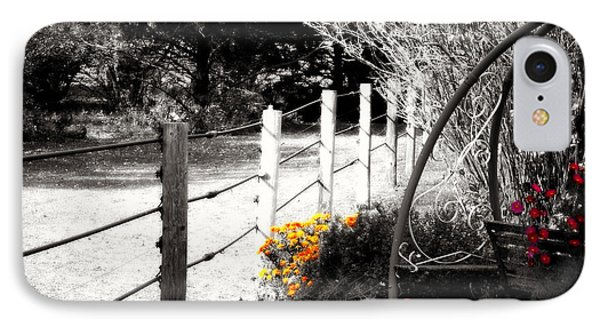 Fence Near The Garden IPhone Case by Julie Hamilton