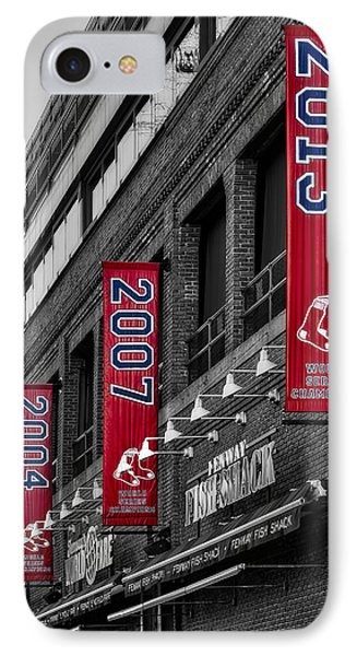 Fenway Boston Red Sox Champions Banners IPhone Case by Susan Candelario