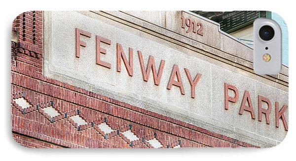 Fenway Park 1912 IPhone Case by Susan Candelario